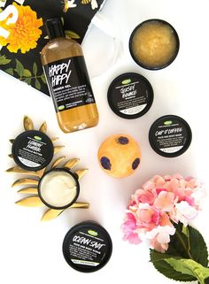 Lush products | Blogger flatlay | skicare products | makeup photography