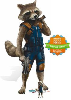 Rocket Raccoon Guardians of The Galaxy Vol. 2 Cardboard Cutout - Available now at Starstills