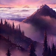 """""""The World is Ahead"""" by megatruh. Beautiful pink and purple landscape fantasy world Galaxy Wallpaper, Nature Wallpaper, Wallpaper Backgrounds, Iphone Wallpapers, Mobile Wallpaper, 2017 Wallpaper, Wallpaper Space, Amazing Backgrounds, Vintage Wallpapers"""