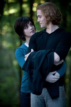 Alice and Jasper from Twilight: these two overcame a lot. And in everything they do they do it together. They're equal halves to a whole. The perfect example of completion. I admire Jasper's strength. And Alice's compassion. But nothing will ever desperate them.