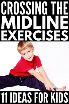 These super fun crossing the midline exercises can be used in the classroom, in OT, and at home to improve brain communication and fine motor skills! Gross Motor Activities, Movement Activities, Gross Motor Skills, Sensory Activities, Therapy Activities, Physical Activities, Preschool Activities, Yoga For Kids, Exercise For Kids