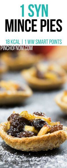 1 Syn Mince Pies Pinch Of Nom Slimming World Recipes 18 kcal 1 Syn 1 Weight Watchers Smart Points Slimming World Mince Pies, Slimming World Deserts, Slimming World Diet, Xmas Food, Christmas Baking, Christmas Recipes, Strudel, Healthy Diet Recipes, Cooking Recipes
