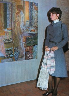 "Signora Audrey Hepburn Dotti photographed during an art exhibition of Pierre Bonnard at the Accademia di Francia a Roma (in English: ""French Academy""), on Villa Medici, within the Villa Borghese, on the Pincio (in English: ""Pincian Hill"") in Rome (Italy), on November 25, 1971"