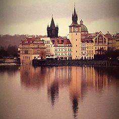 Beautiful Prague. Magical in the rain.