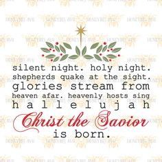 Silent night type svg Christmas svg Holiday svg Silent night svg SVG file SVG files Cut file Cutting files Silhouette svg Cricut svg eps dxf by HoneybeeSVG on Etsy