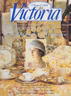 Victoria Magazine August 1994 - Shopping for Romance by clutterbunny on Etsy