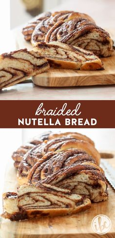 This Braided Nutella Bread is a delicious and beautiful way to enjoy a sweet treat for breakfast, brunch, or dessert. #braided #nutella #bread #recipe via @inspiredbycharm