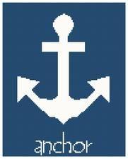 anchor cross stitch pattern, nautical