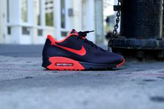 Nike Air Max 90 Hyp PRM - Port Wine / Bright Crimson