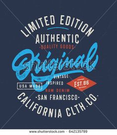 Original Vintage Textured Hand Lettered T Shirt Graphics. Typography Apparel Fashion Design. Vector Typographic Badge.
