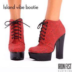 아이언피스트 island vibe bootie  #ironfist #아이언피스트 #펑키 #유니크 #여자구두 #부츠 #부티