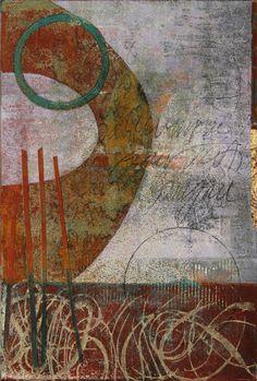 """Meridian Marker, byAnne Moore, monotype, 15""""X10"""""""