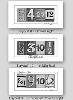 Custom Date Number Photo Art 10x20 Print by FrittsCreative on Etsy, $31.00