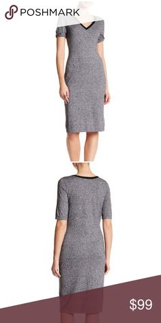 "Tart Daria V-Neck Dress Heathered Grey Medium A V-neck dress is perfect for you with knit construction and ribbed trim details to pull off a casual, everyday look.     - V-neck     - Short sleeves     - Knit construction     - Ribbed trim     - Approx. 40"" length  Fiber Content     95% cotton, 5% cashmere Care     Dry clean or hand wash cold Additional Info     Fit: this style fits true to size Tart Dresses"