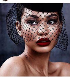 Chanel Iman. Velvet Rose lipstick .