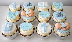 Resultado de imagen de cupcakes decorados con fondant para baby shower