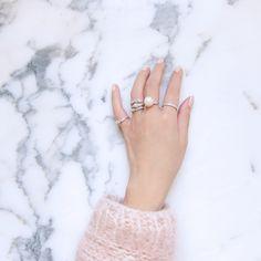 marble + pink + pearls