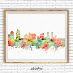 San Diego Print, San Diego Art San Diego Skyline, San Diego California, City Wall Art, City Skyline Prints, Office Wall Art, ArtPrintZone #CityArtPrint #SanDiegoPrint #OfficeDecoration #ArtPrint #CitySkylineArt
