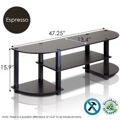 Furinno 11058EXBK TurnSTube Wide TV Entertainment Center EspressoBlack -- Check out this great product.