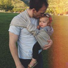 father-daughter kiss #sakurabloom #babywearing via haleykjar on instagram