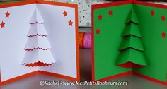 We tend to think that 3D cards are complicated to make. But, if you look at this card closely, its rather easy to make. You'll be needing two cards. Place one card on top of the other and just where the card bends, make some cuttings and pull them out carefully. And you have your 3D cards ready. Christmas Card Craft Idea #Christmas #Parenting PARENTING HEALTHY BABIES