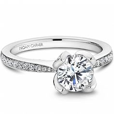 A floral engagement ring by Noam Carver - Bridal Mount - B019-01A