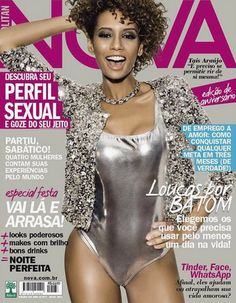 Stunning actress and model Taís Araújo is all glitter and sensuality for the cover of Cosmo/Nova Brazil