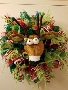Funky Rudolph by me! Wreaths on Wadsworth Lane