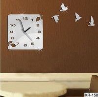 I think you'll like xr158  3D new 2014 wall clock safe home decoration decor single clocks watch modern design birds unique gift. Add it to your wishlist!  http://www.wish.com/c/53f021231f50634c5bbd71ce