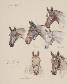 Quorn Horses, 1959, by Peter Biegel (1913-1988)