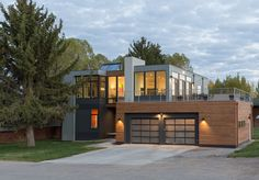 Jackson Hole, Wyoming, this modern home was designed by Chris Pardo Design: Elemental Architecture
