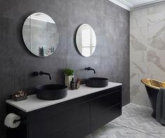 The Block 2018 master ensuite reveal: Shannon Vos's fast five - Modern Black Vanity Bathroom, Rustic Bathroom Vanities, White Bathroom, Small Bathroom, Master Bathroom, The Block, Bad Inspiration, Bathroom Inspiration, Bathroom Styling