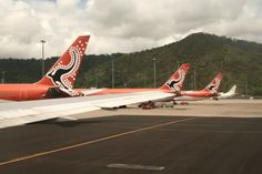 Australian Airlines Cairns Base – three 767-300s on the stand Helicopter Cockpit, Australian Airlines, Airline Logo, Aircraft Painting, Air Lines, Paint Schemes, Cairns, Helicopters, Jets