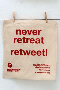 never retreat - retweet!