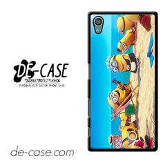 Despicable Minions On Beach DEAL-3199 Sony Phonecase Cover For Xperia Z5