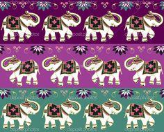 Традиционный индийский слон фон — Стоковая иллюстрация #10490635