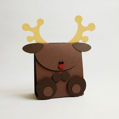 "mini christmas gift bag ""reindeer"" so cute Christmas Gift Bags, Christmas Wrapping, Christmas Presents, Christmas Time, Christmas Crafts, Xmas, Box Bunny, Mini Gift Bags, Christmas Traditions"
