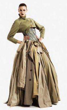 Eco Stylist Gary Harvey's upcycled dress, stunning!