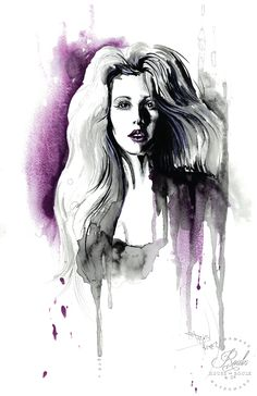 """""""Ellie Goulding"""" by Therése Rosier - Limited Edition, Fine Art Print"""