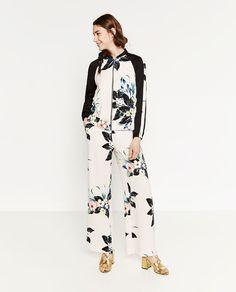 Image 1 of FLORAL PRINT BOMBER JACKET from Zara Zara Official Website,  Printed Bomber Jacket 8088cf27f944