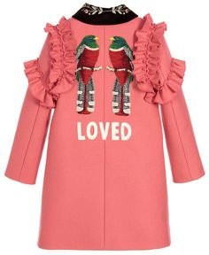 ALALOSHA: VOGUE ENFANTS: Must have of the Day: GUCCI Girls Pink Wool Coat