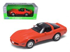 1982 Chevrolet Corvette Red 1:18 Diecast Car Model by Welly - 12546R
