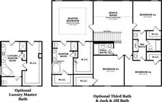 Bedroom addition ideas addition with 2 bedrooms and for Jack and jill bathroom with hall access