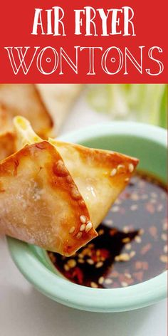 These Air Fryer Crab Rangoon—wontons made with cream cheese and crab—are super crispy, delicious, and easy to make at home. You may never order takeout wontons again! Air Fryer Recipes Snacks, Air Fryer Recipes Low Carb, Air Fryer Dinner Recipes, Phillips Air Fryer, Crab Rangoon Recipe, Cream Cheese Wontons, Crab Wontons, Wonton Recipes, Fish Recipes
