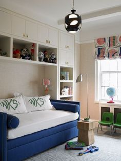 Guest room with storage space.