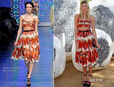 Dree Hemingway In Dolce & Gabbana - Mulberry Coachella Pool Party