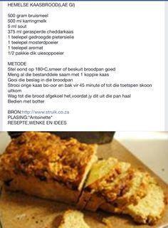 Braai Recipes, Cooking Recipes, Chocolate Weetbix Slice, Savory Tart, South African Recipes, Picnic Foods, Savory Snacks, Breakfast Dishes, Bread Baking