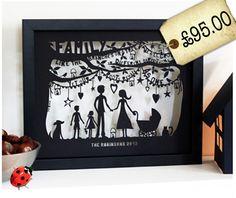 Bespoke family Tree Papercut