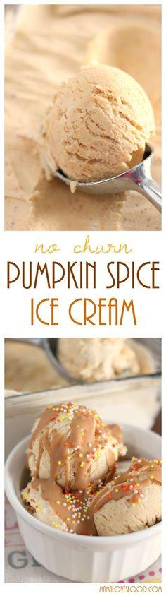 Pumpkin Spice Ice Cream (No Churn!)