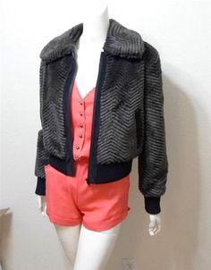 WOMEN H&M DIVIDED parka coat jacket faux fur hood lining size 6 ...